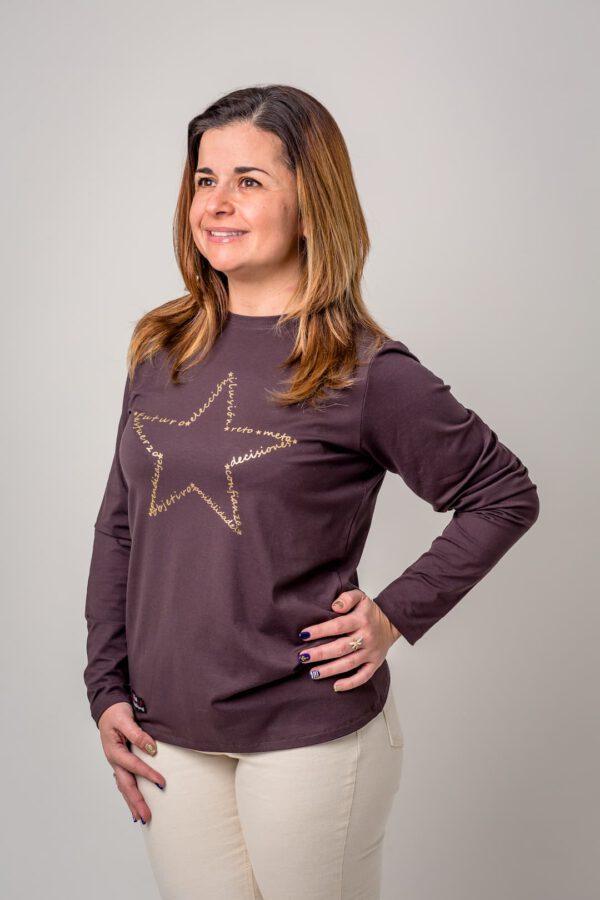 Prenda con mensaje Camiseta Estrella