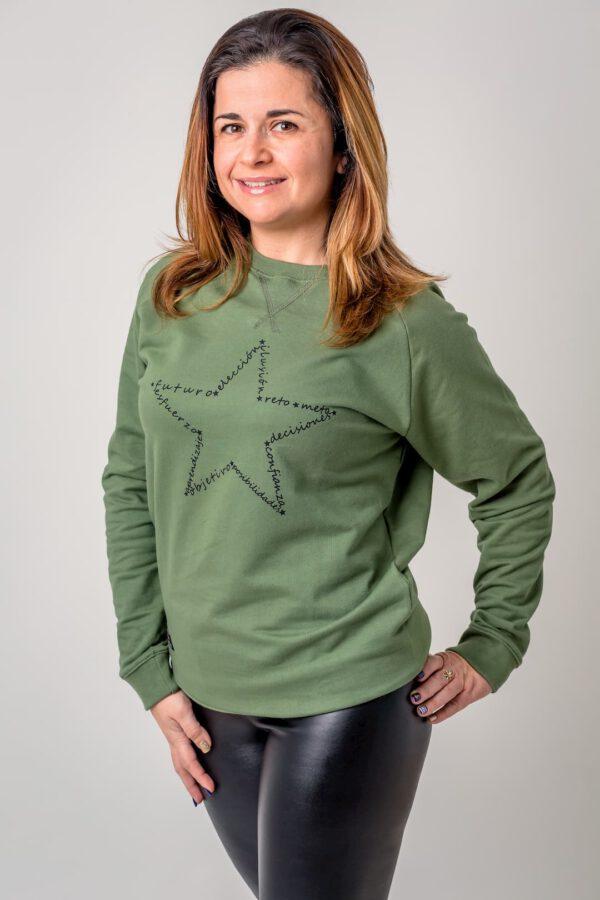 Prenda con mensaje Estrella Verde